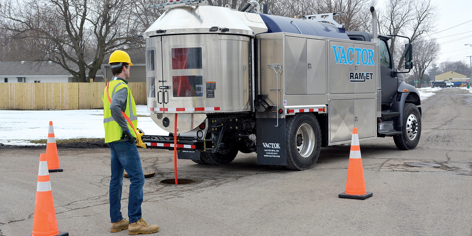 Vactor Introduces Redesigned Ramjet Truck Jetter with IntuiTouch® Controls
